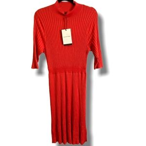 WHO WHAT WEAR for TARGET KNIT PLEAT PAPRIKA DRESS